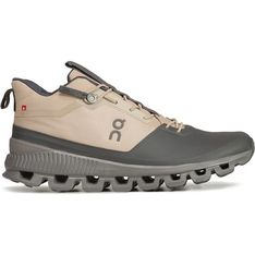 Buty sportowe damskie brązowe On Running skórzane wiosenne sznurowane