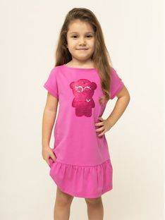 Emporio Armani Sukienka codzienna 3H3A38 2JQAZ 0309 Różowy Regular Fit