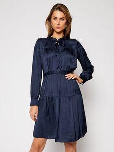 Trussardi Sukienka koszulowa Satin 56D00463 Granatowy Regular Fit