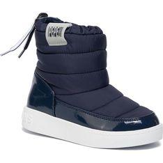 Buty zimowe dziecięce Pepe Jeans nylonowe sznurowane śniegowce
