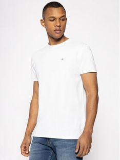 Tommy Jeans T-Shirt DM0DM04413 Biały Regular Fit