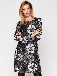 MICHAEL Michael Kors Sukienka koktajlowa Metallic Floral Sequined MF08YVPF7B Srebrny Regular Fit