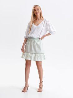 Mini spódniczka z haftem i falbaną