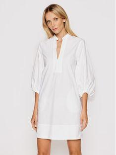 Marella Sukienka koszulowa Stuarda 32212612 Biały Regular Fit