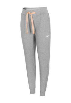 4F - Spodnie treningowe - jasnoszary