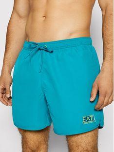 EA7 Emporio Armani Szorty kąpielowe 902051 1P730 20532 Zielony Regular Fit