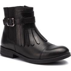 Geox buty zimowe dziecięce bez wzorów kozaki na zamek