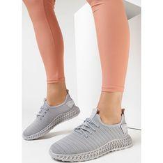 Buty sportowe damskie Born2be sznurowane na płaskiej podeszwie