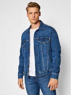 Pepe Jeans Kurtka jeansowa Pinner PM400908HI4 Granatowy Regular Fit