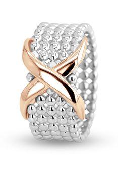 LES FAVORITES Paris - Pierścionek - Biżuteria pozłacana różowym złotem - srebro wysokiej próby - srebrny