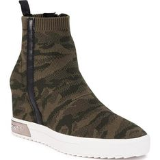 Buty sportowe damskie DKNY sneakersy bez zapięcia na platformie na wiosnę