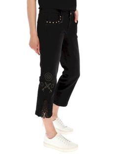 Czarne jeansy damskie Desigual SYLVETTE