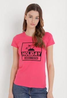 Ciemnoróżowy T-shirt Nueleth