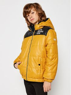 Pepe Jeans Kurtka puchowa Cas PB401013 Żółty Regular Fit