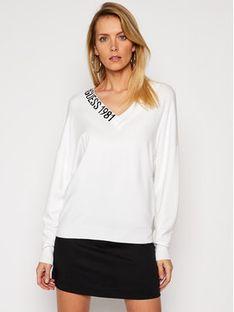 Guess Sweter Dalia W1RR04 Z2NQ0 Biały Regular Fit