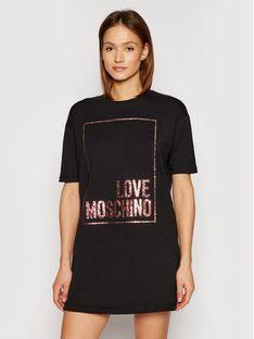 LOVE MOSCHINO Sukienka dzianinowa W592329E 2180 Czarny Regular Fit