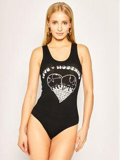LOVE MOSCHINO Body W900101E 2151 Czarny Slim Fit