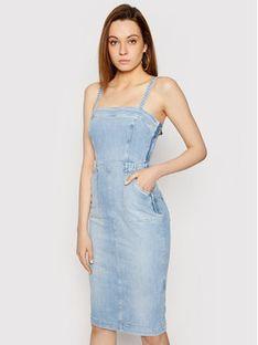 Guess Sukienka jeansowa Foulard W1GK19 D3ZT7 Niebieski Slim Fit