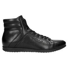 Wojas Czarne Jesienne Męskie Sneakersy