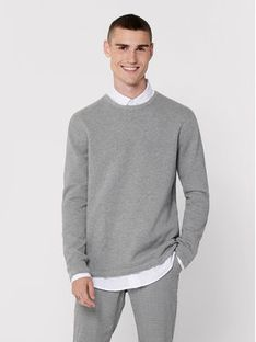 ONLY & SONS Sweter Panter 22016980 Szary Regular Fit