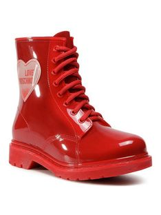 LOVE MOSCHINO Kalosze JA24073G1BIR2500 Czerwony