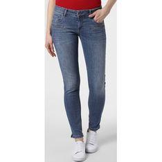 Niebieskie jeansy damskie Blue Fire bez wzorów