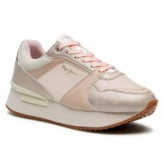 Sneakersy PEPE JEANS - Rusper Eve PLS31189 Pink Champage 304