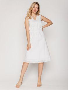 Biała letnia sukienka Rabarbar