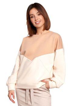 Bawełniana Bluza w Panele Kolorystyczne - Model 4