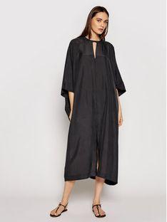 TwinSet Sukienka codzienna 211TT2691 Czarny Relaxed Fit
