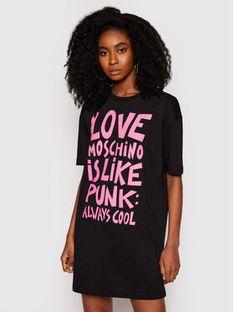 LOVE MOSCHINO Sukienka codzienna W592332M 3876 Czarny Regular Fit