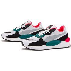 Buty sportowe damskie Puma wielokolorowe gładkie sznurowane