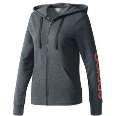 Bluza z kapturem damska Essentials Linear Full-Zip Hoodie Fleece Adidas