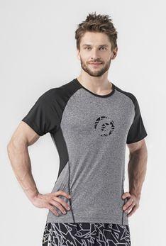 T-Shirt melanż / czarny