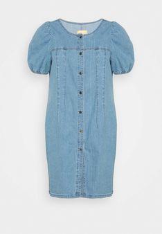 ONLY Carmakoma - Sukienka jeansowa - niebieski
