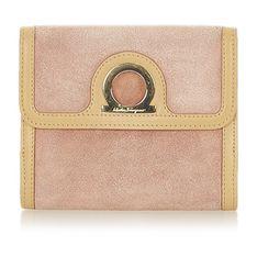 Mały zamszowy portfel Gancini