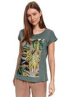 T-shirt z nadrukiem w monstery