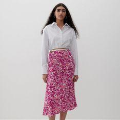 Reserved - Spódnica z EcoVero™ - Różowy