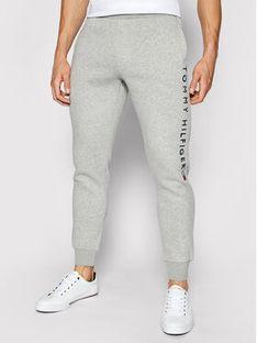 Tommy Hilfiger Spodnie dresowe Stacked Logo MW0MW18485 Szary Regular Fit