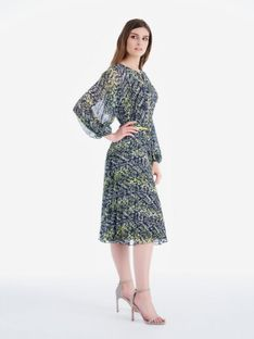 Wzorzysta plisowana sukienka Potis & Verso PRIMROSE