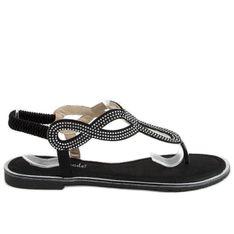 Sandałki japonki czarne 6170 Black