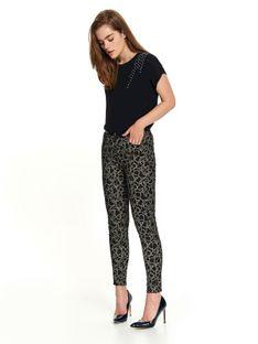 Spodnie damskie z nadrukiem