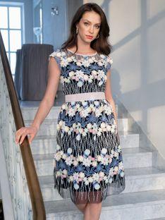 Koronkowa sukienka z kwiatami 3D L`AF ROMA