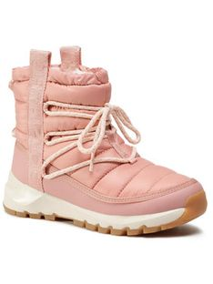 The North Face Śniegowce Thermoball Lace Up NF0A4AZGVCJ Różowy
