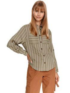 Damska koszula oversize w paski