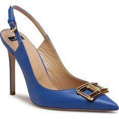 Sandały damskie Elisabetta Franchi eleganckie na szpilce na lato skórzane