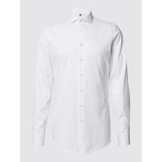 Biała koszula męska Jake*s z długimi rękawami na wiosnę bawełniana