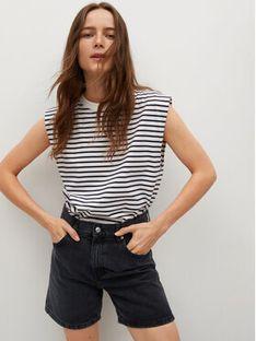 Mango Szorty jeansowe Zaida 17030109 Czarny Straight Fit