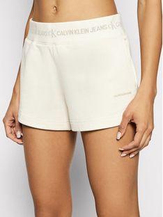 Calvin Klein Jeans Szorty sportowe J20J215561 Beżowy Slim Fit