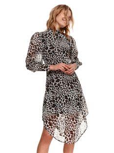 Sukienka ze stójką w panterkę